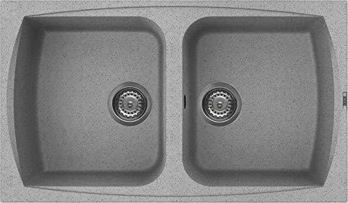 """Respekta Mineralite 86/x 50 cm,/colore bianco lavello cucina da incasso /""""Boston/"""""""