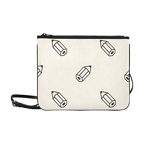 Generies Cross Bag Clutch Art Bunte Briefpapier Bleistift verstellbare Schultergurt Kleinkind Umhängetasche für Frauen Mädchen Damen Baby Mode Taschen Clutch große Tasche