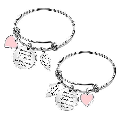 Sister Bracelets Set of 2 Big Sister Little Sister Bracelet Sister Jewelry Set Sister Gifts (595)