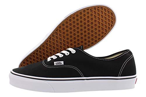 Vans Unisex Authentic TrainersSkate Shoes Black/White 12 B(M) US Women/10.5 D(M) US Men