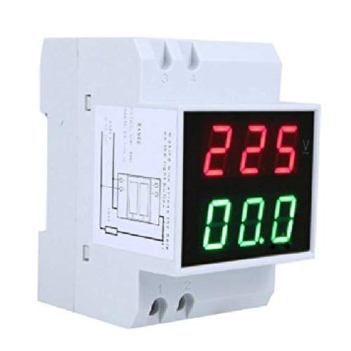 Find Discount Din-Rail AC 110V/220V Digital Voltmeter Ammeter Red Volt Green Amp Meter LED Display