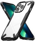 Ringke Fusion-X Compatible con Funda iPhone 13 Pro MAX, Carcasa Negra iPhone 13 Pro MAX, Parachoque Resistente Impactos, Sólida a Prueba de Choques - Black
