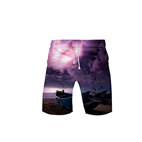Mannen 3D Shorts Mens Casual shorts met zakken, Mens Shorts elastiek in de taille, Casual shorts voor Mannen