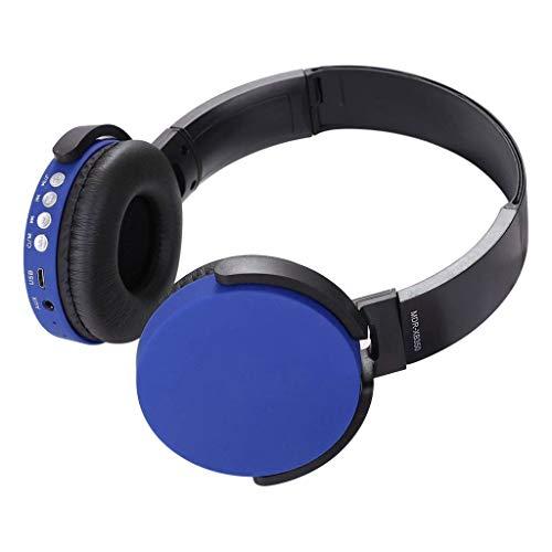 SamMoSon 2019 Auriculares Diadema, Cascos Bluetooth Inalambricos,Ver-Ear Teens con Micrófono Auriculares Plegables para DJ Auriculares De Juego con Cable De 3,5 Mm