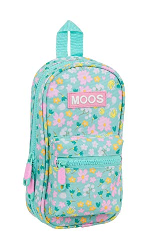 MOOS Neceser con 4 Estuches y Útiles Liberty, 120x50x230mm, multicolor