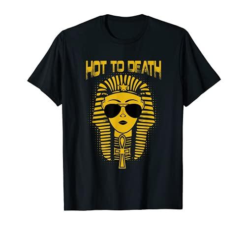 Antiguo faraón egipcio caliente a la muerte gafas de sol aladas Ankh Camiseta