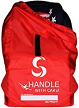 Slynnar Car Seat Travel Bag for Airplane - Gate Check Bag Fits Convertible Car Seats, Infant Carriers & Booster Seats, Red
