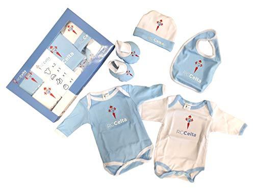 R.C. Celta de Vigo Baby Set Celta, Conjunto de Ropa Unisex Bebé, Multicolor (Celeste/Blanco 000), 0-3 Meses, Pack de 5