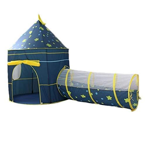 SHWYSHOP Tienda de campaña 3 en 1 para niños con agujero para el túnel de gateo, pozo de pelota para interiores y exteriores + caja de almacenamiento