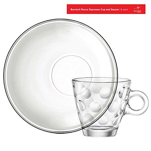 Bormioli Rocco Easy Bar Dots Espresso Cup,Set of 6, Clear