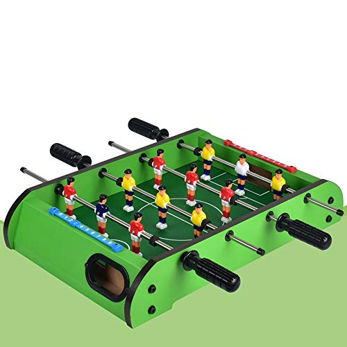 Find Bargain WHTBB 19 Foosball Table, Easily Assemble Wooden Mini Foosball Table Top w/Footballs, S...