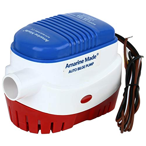 Amarine-made 12v 1100gph Auto Boat Bilge Pump Automatic Submersible Boat Bilge Water Pump (A: 1100gph Auto pump)