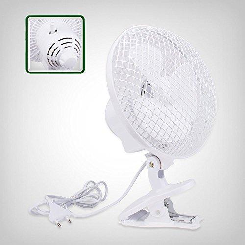 Clip Ventilator oszillierend, schwingend, pendelnd, schwankend, 2-Stufen, 18cm Korbdurchmesser, 20 Watt