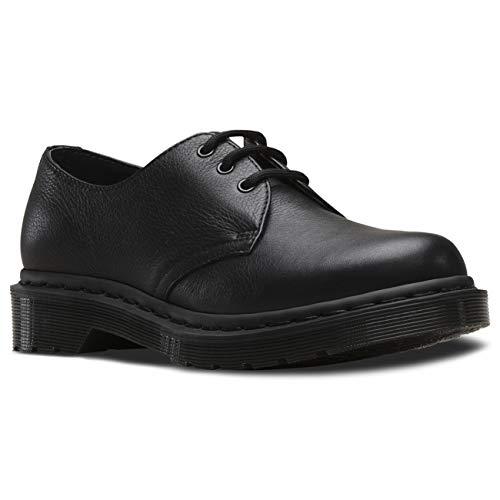 Dr. Martens Damen 1461 Mono Virginia Schwarz Glatt Leder Mode Schuhe EU 36-43