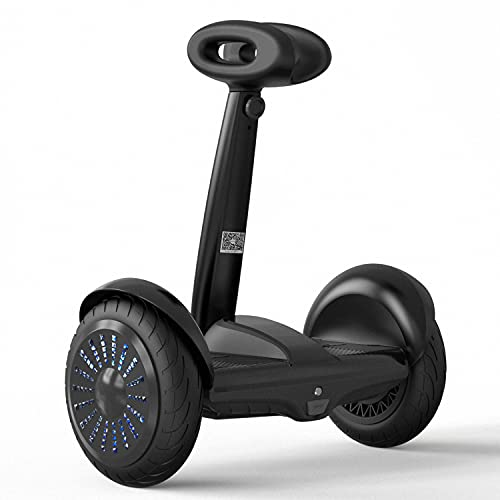 Hiboy Self-Balancing Electric Scooter with Steering Bar, Smart J5 Hoverboards with APP Control, White and Black (Black)