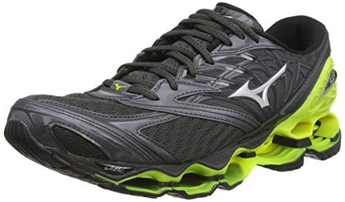 Mizuno Wave Prophecy 8, Zapatillas de Running para Hombre, Negro (Dark Shadow/Silver/Safety Yellow 05), 44.5 EU
