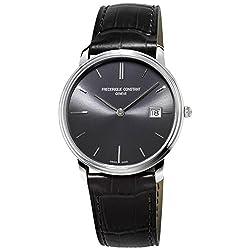 Frederique Constant Men's FC220NG4S6 Slim Line Analog Display Swiss Quartz Black Watch