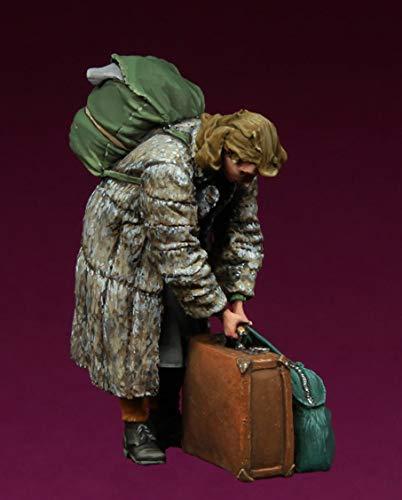 CHOUDOUFU Estatua Escultura Adorno 1 Kit De Figuras En Miniatura De Resina A Escala De La Segunda Guerra Mundial, Bolso De Señora De Civiles Europeos