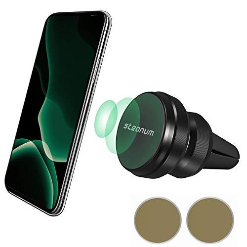 steanum Auto Handyhalterung Magnet, 6 Starke Magneten Universal KFZ Smartphone Halter Kompatibel für iPhone XS/XR/X/8/7/6,Galaxy S10/S9/S8,Google,Huawei,LG und Mehr-Schwarz