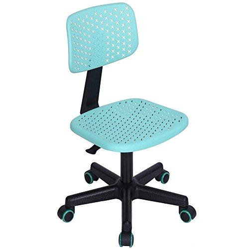Silla escritorio oficina giratoria ergonómica altura ajustable con ruedas celeste Office Casa Studio Silla de escritorio oficina