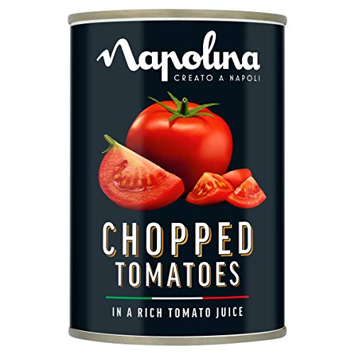 Napolina Chopped Tomatoes, 400 g, Pack of 24