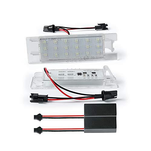 LED Kennzeichenbeleuchtung Kennzeichenleuchte kompatibel mit Astra H + J -Corsa D -Zafira B -Insignia mit CAN-Bus-Widerstand