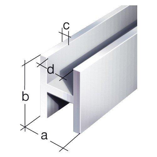 GAH.ALBERTS H-Profil 13,5 x 22 x 1,75 mm, aluminium 2 m 7495, silber eloxiert, 47495 9