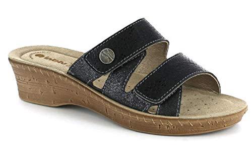inblu Ciabatte, Pantofole Donna MOD. 26-78 Nero Linea Benessere (Numeric_37)