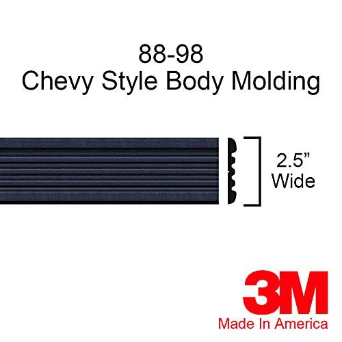 Automotive Authority Black Side Body Trim Molding for 1988-1998 Chevy GMC Tahoe Suburban Silverado Pickup Truck - 2.5