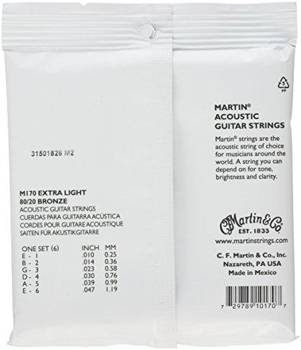 Martinアコースティックギター弦ACOUSTIC(80/20Bronze)M-170ExtraLight.010-.047