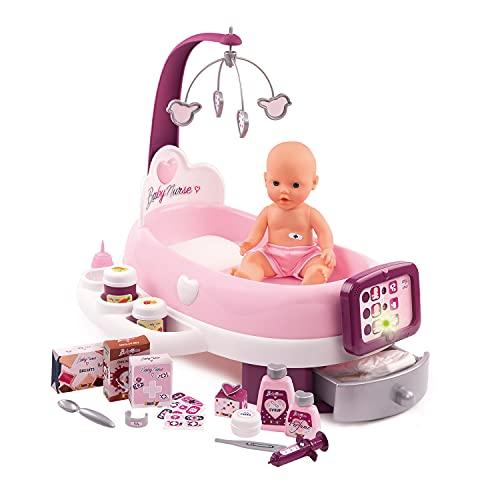 Smoby - Baby Nurse - Nursery Electronique - Pour Poupons et Poupées - 24 Accessoires + 1 Poupon Fonction Pipi - 220347