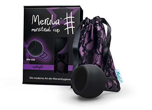 Merula Cup midnight (schwarz) - One size Menstruationstasse aus medizinischem Silikon