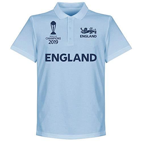 ECB England Cricket Bambini Maglietta Polo in piqué Blu 2019