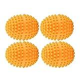 Raguso 4Pcs / Set Bolas de lavandería para Lavadora Secadora Bolas de Limpieza Naranja