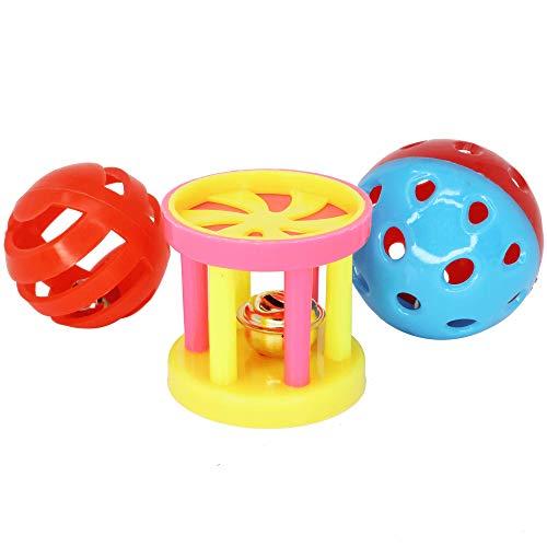 Bonka Bird Toys 1195 Play Three Balls Bell Jingle Budgie Finch Parakeet Lovebird Parrolet