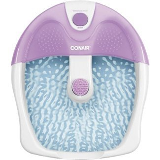 Conair Foot Bath and Heat Massager Features Toe-Touch Controls for Heat and Vibration with Nodes on Splashguard and Base for Extra Massage Action Bonus Massage Attachment Included