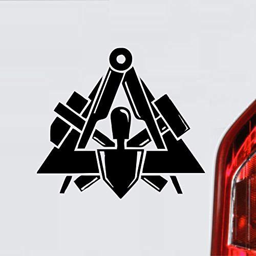myrockshirt Maurer Zunftzeichen Wappen Symbol Handwerk ca. 20 cm Aufkleber,Autoaufkleber,Sticker,Decal,Wandtattoo, aus Hochleistungsfolie,UV&waschanlagenfest,Lack,Scheibe,Wandtattoo,