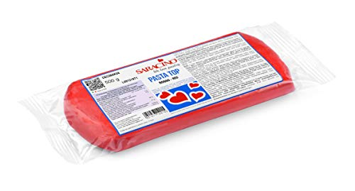 Saracino Pasta Di Zucchero Top Rossa Per Copertura Da 500 g Made In Italy