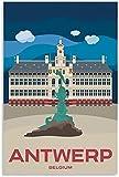 VVBGL Leinwandbild Antwerpen Stadt Poster Vintage