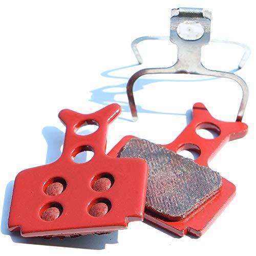 BGGPX 4 Paires de Plaquettes de Frein à Disque vélo MTB frittage Rouges Tapis de Frein de vélo de vélo de VTT en métal Complet de VTT Complet for la Formule Celui/Mega / R1 / RX