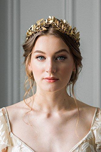 Kercisbeauty - Pendientes para novia, novia, novia, dama de honor, corona con diamantes de imitación, diseño barroco,...