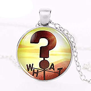 Steampunk Necklace Drama Gravity Falls Mysteries Bill Cipher Wheel What Sign Weathervane Pendant 1pcs/lot question Mark