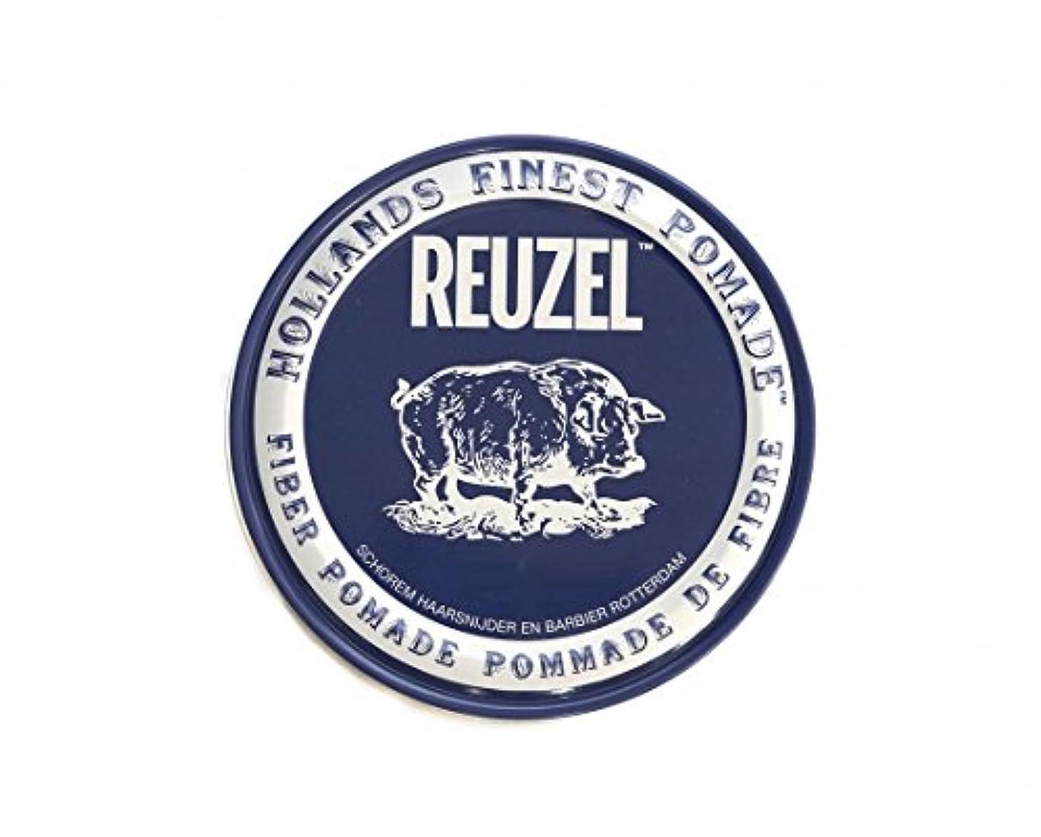 窒息させる乗って因子ルーゾー REUZEL FIBER ファイバー ポマード ネイビー 340g
