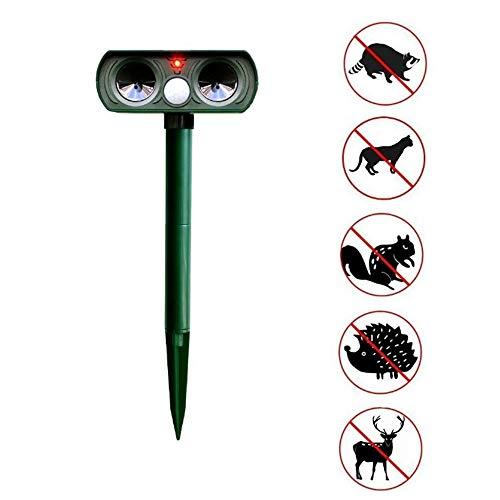 0 ℃ Outdoor Ultraschall Tiervertreiber,Solar Tierabwehr Wasserdicht, Abwehr Katzenschreck Marderabwehr vogelabwehr