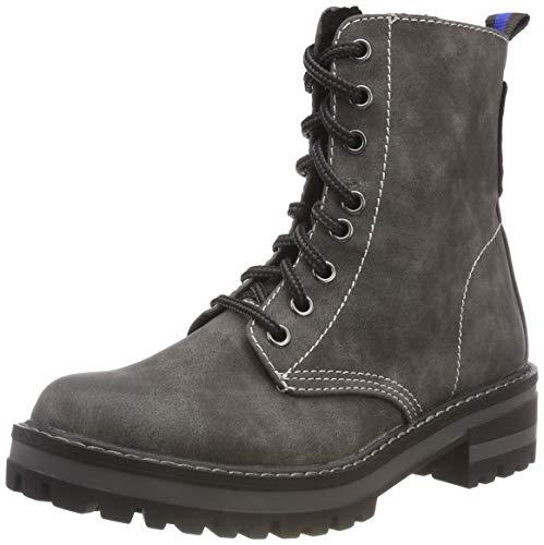 s.Oliver Damen 5-5-25233-21 Combat Boots, Grau (Graphite 206), 40 EU
