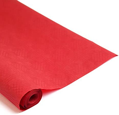 Crown Supplies Red Paper Banquet Roll 25M X 1.2M Table Covers ...