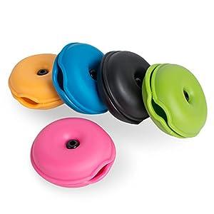 Organizador para Cables USB Auriculares Tangle-Free s de Denshine, Bolso para Guardar Cables/Cortador de Cables Enrollador Carrete para Proteger CON 5 Colores