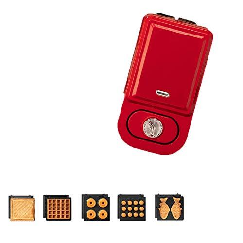 L.TSN Mini-Waffeleisen, doppelseitige gleichmäßige Heizung, mit Timing-Funktion und Anzeigelampe, für einzelne Pfannkuchen, Kekse, Eier und anderes mobiles Frühstück, Mittagessen und Snacks