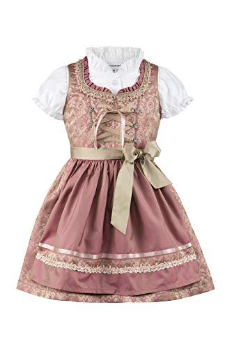 Stockerpoint Mädchen Kinderdirndl Anna Dirndl, Rosa (Altrosa Altrosa), 134/140 (Herstellergröße: 134-140)