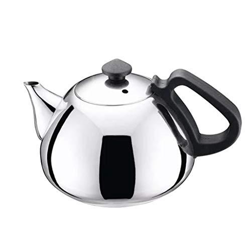 HomeDecTime Teiera del Metallo del Bollitore del tè della Cucina della Teiera dell'Acciaio Inossidabile di 0.8L - Argento, 6 cm